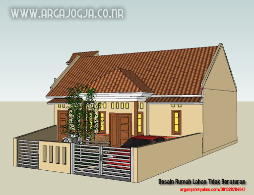  Desain Rumah Pada Lahan Yang Tidak Beraturan 