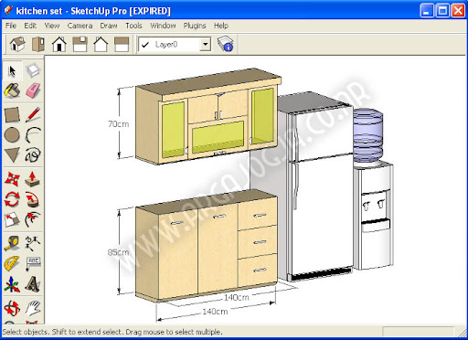 Download Gratis Sketchup Model Kitchen Furniture