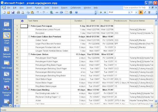 Tutorial Cara Menampilkan Kurva S Pada Microsoft Project 2007