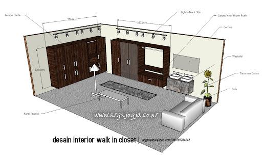 Desain Interior Walk In Closet Minimalist