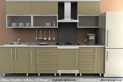 Desain Furniture Kitchen Set Mungil Pada Ruangan Yang Kecil