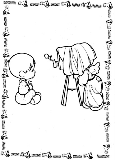 Photographer – precious moments coloring pages