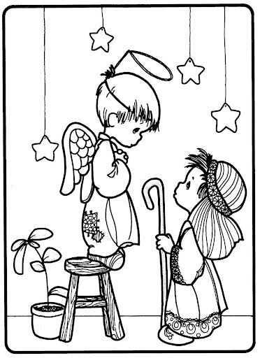 pastourelle – precious moments coloring pages