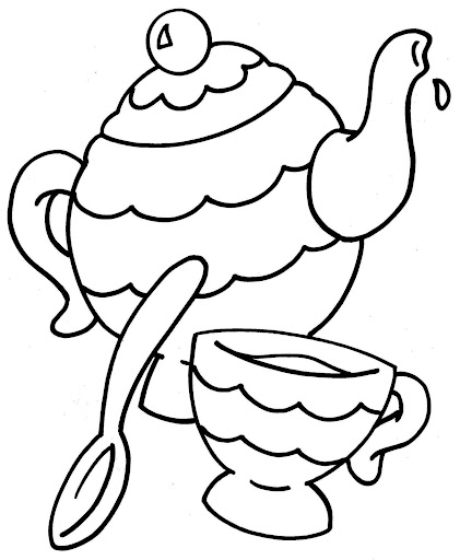 Teacups coloring pages
