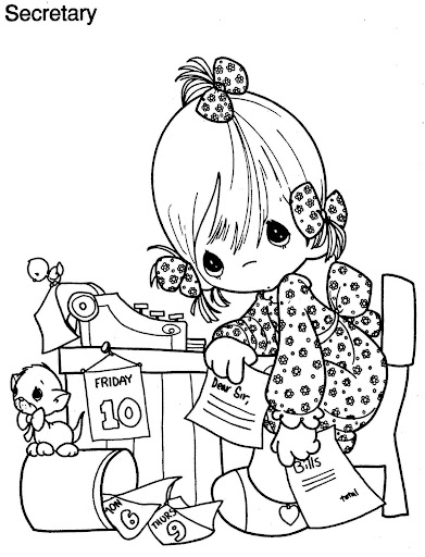 Secretary's day coloring pages