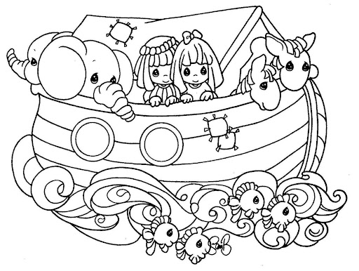 Noah s ark coloring pages precious moments coloring pages for Noah ark coloring page