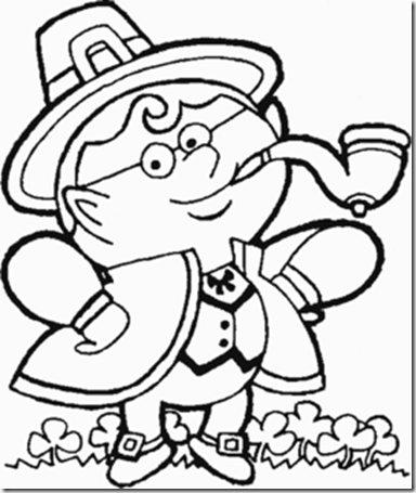 San patrick's  day coloring pages