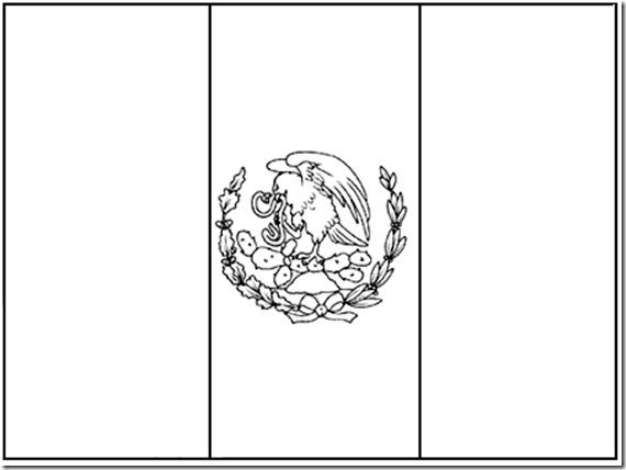 Flag of Mexico coloring pages