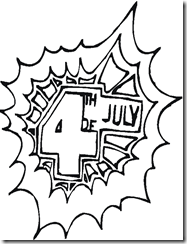 4 of July independence day - coloring pages