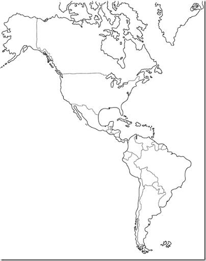 Pinto Dibujos: Mapa político de América para colorear