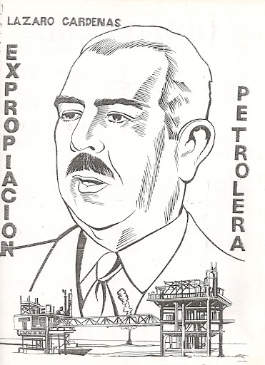 Mexican oil expropriation – Lazaro Cardenas coloring pages