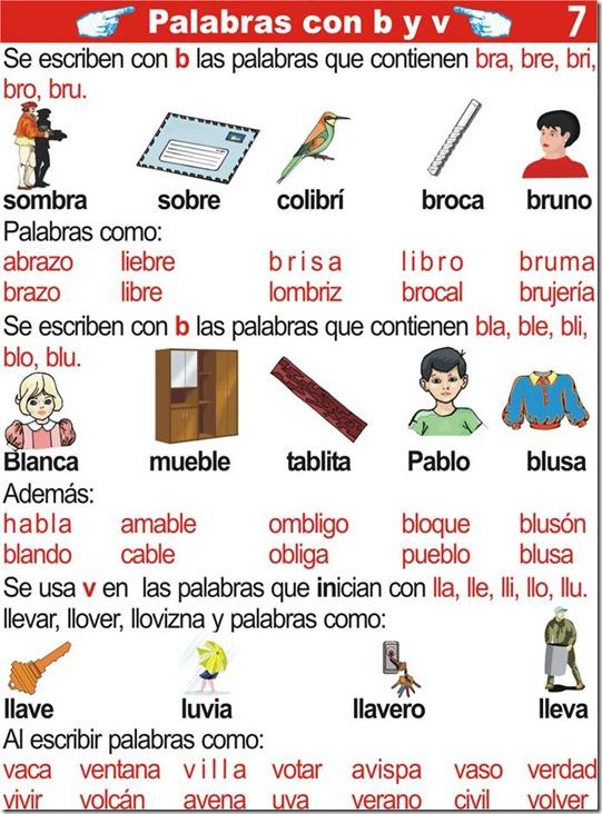 Palabras con B y V – tareas escolares para segundo grado