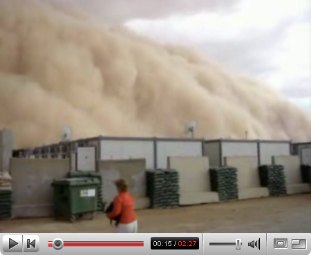 Sandstorm Moving into Al Asad, Iraq