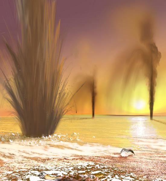 Ice geysers on Mars