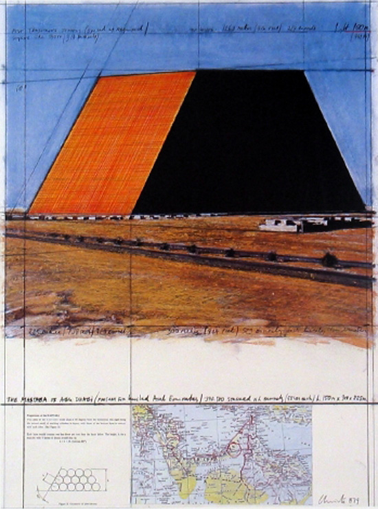 The Mastaba of Abu Dhabi by Christo and Jeanne-Claude