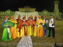 Penari Tari Massal Titian Illahi di Pembukaan MTQ ke XXIX di Kuansing