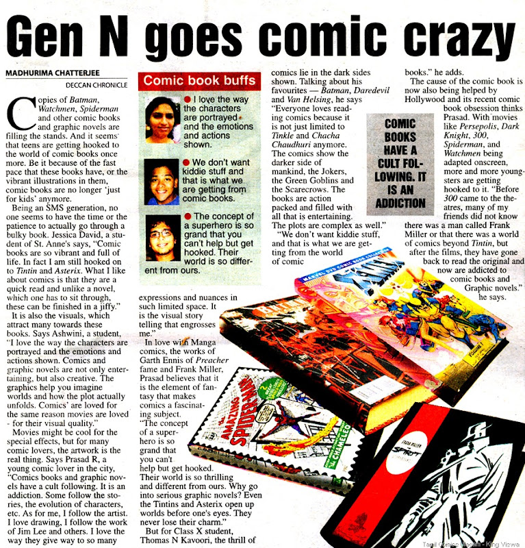 Deccan Chronicle Chennai Chronicle Page 25 Dated 24th April 2009 Gen N & Comics
