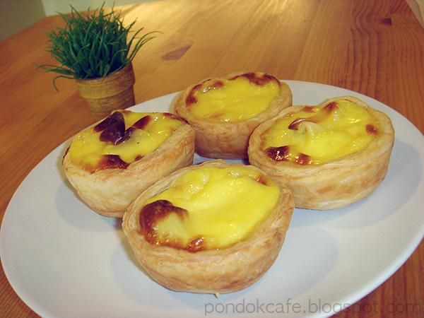 egg tart dessert pondok cafe
