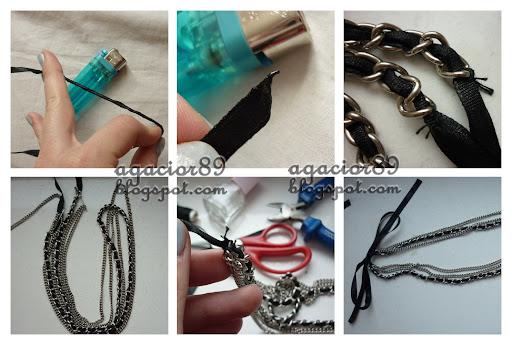 fashion tutorial DIY chain necklace/ instrukcja krok po kroku DIY