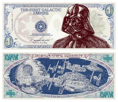 Billete de Darth Vader