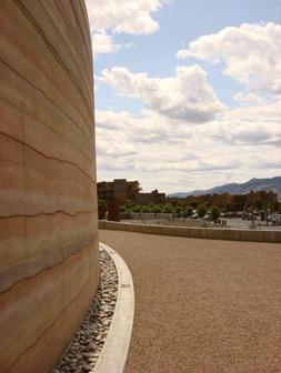 Rammed Earth Wall NK'MIP Winery Osoyoos