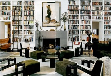Bookshelves with Ladders Diane von Furstenberg