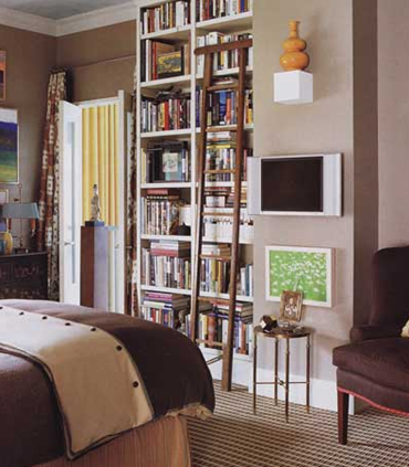 Bookshelves in Bedrooms