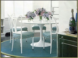 Knoll Saarinen Table Diamond Baratta Elle Decor Custom Royal Hide