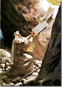 Moises en Sinai