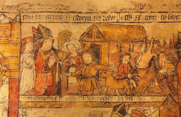 Església romànica de Santa Eulàlia d'Unha. Pintures murals del s. XVI,Naut Aran, Val d'Aran, Lleida