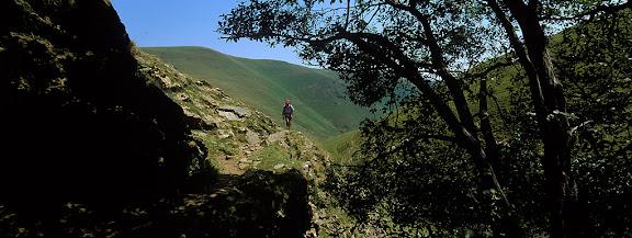 Vall d'Asua, camí del port de Triador. Tomb al Parc nacional d'Aigües Tortes i Estany de Sant Maurici, projecte Camins ViusLlessuí, ,Pallars Sobirà, Lleida2002.07