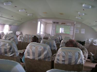 水中翼船の客室