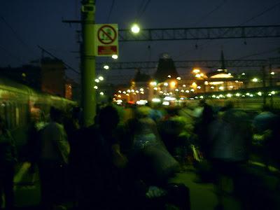 ヤロスラフスキー駅のホーム