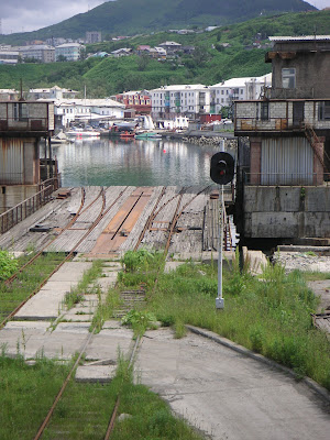 鉄道運搬船用の引込線