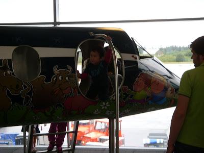 オスロ空港の遊具