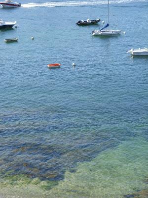 透き通った海面