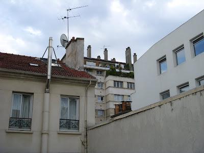 パリの宿からの眺め