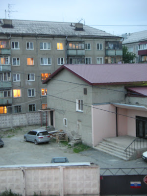 部屋の窓からの風景