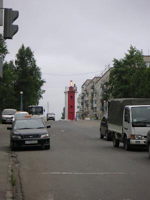 バニノの街中にある灯台