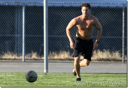Jensen Ackles Jensen Ackles Plays Soccer