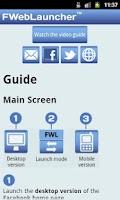 Screenshot of FWebLauncher for Facebook web