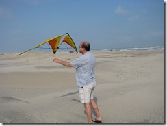 5444 Assembling my Kite South Padre Island Texas