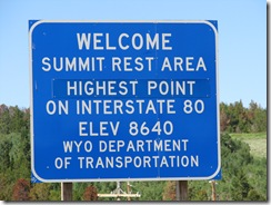 1311 Summit Rest Area  I 80 WY