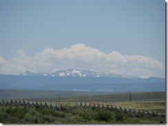 1450 View of Mountains between Medicine Bow & Hanna WY