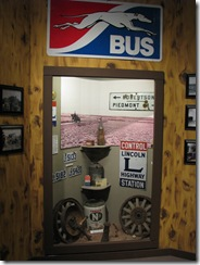 1605 Lincoln Highway Display at Museum at Fort Bridger WY