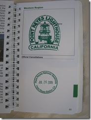 3344 National Parks Passport Book Point Reyes Lighthouse CA