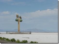 1942 Karl Momen's Tree of Utah abstract sculpture west of Knolls UT