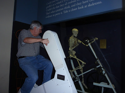 Bob gets into the act, riding in tandem with a skeletal buddy