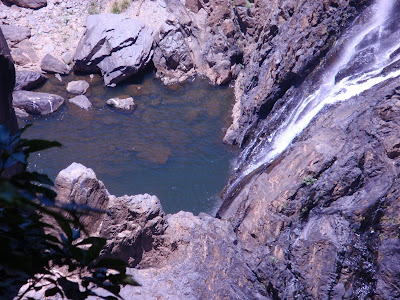 Lake at the bottom of Barron Falls