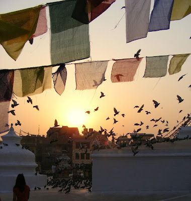 Prayer flags at Bouddhanath Kathmandu